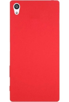 Case Street Sony Xperia Z5 Premium Kılıf Premier Silikon Kılıf + Nano + Kalem Kırmızı