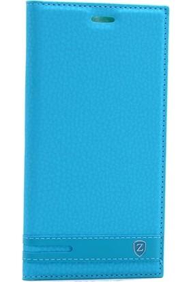 Case Street Nokia 3 Kılıf Elite Gizli Mıknatıslı Kapaklı + Nano + Kalem Turkuaz