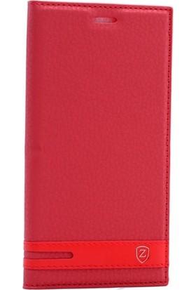 Case Street Nokia 6 Kılıf Elite Gizli Mıknatıslı Kapaklı + Nano + Kalem Kırmızı