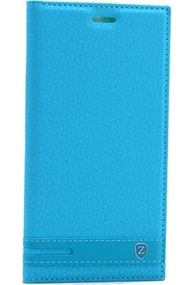 Case Street Nokia 6 Kılıf Elite Gizli Mıknatıslı Kapaklı + Nano + Kalem Turkuaz