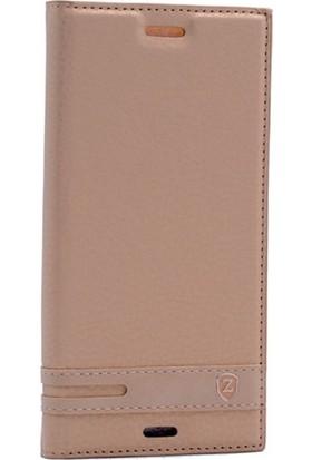 Case Street Sony Xperia XZ Kılıf Elite Gizli Mıknatıslı + Nano + Kalem Gold