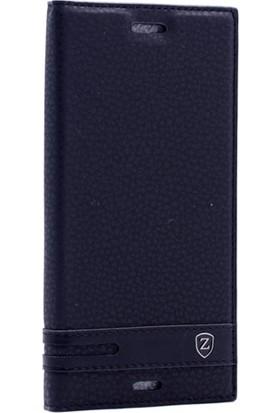Case Street Sony Xperia XZ Kılıf Elite Gizli Mıknatıslı + Nano + Kalem Siyah