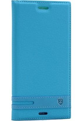 Case Street Sony Xperia XZ Kılıf Elite Gizli Mıknatıslı + Nano + Kalem Turkuaz