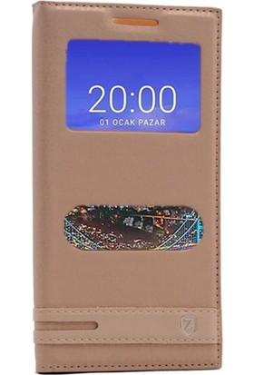Case Street Vestel Venus V3 5530 Kılıf Elite Mıknatıslı + Nano + Kalem Gold