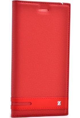 Case Street Vodafone Smart Ultra 7 Kılıf Elite Mıknatıslı + Nano + Kalem Kırmızı