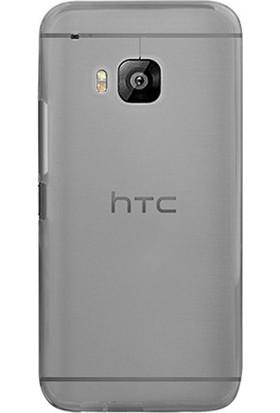 Case Street HTC One M9 Plus Kılıf 02 mm Silikon + Nano + Kalem Antrasit