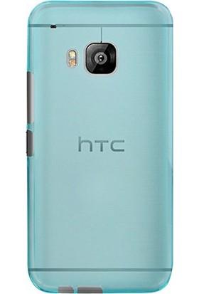 Case Street HTC One M9 Plus Kılıf 02 mm Silikon + Nano + Kalem Mavi