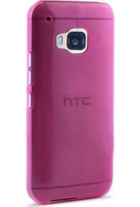 Case Street HTC One M9 Plus Kılıf 02 mm Silikon + Nano + Kalem Pembe