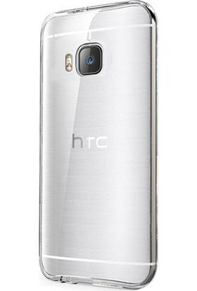 Case Street HTC One M9 Plus Kılıf 02 mm Silikon + Nano + Kalem Şeffaf