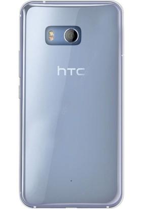 Case Street HTC U11 Kılıf 02 mm Silikon Kılıf + Nano + Kalem Koruma Şeffaf