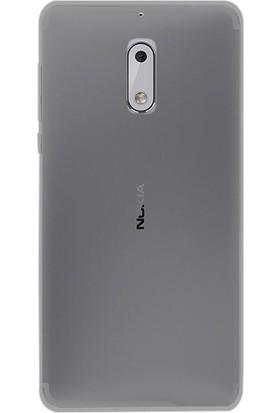 Case Street Nokia 6 Kılıf 02 mm Silikon Ultra İnce Kılıf + Nano + Kalem Antrasit