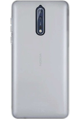 Case Street Nokia 8 Kılıf 02 mm Silikon Ultra İnce Kılıf + Nano + Kalem Şeffaf