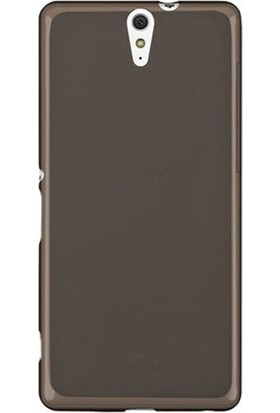 Case Street Sony Xperia C5 Ultra Kılıf 02 mm Silikon + Nano + Kalem Antrasit