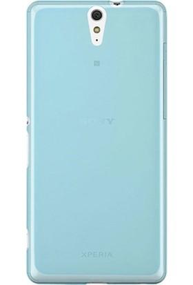 Case Street Sony Xperia C5 Ultra Kılıf 02 mm Silikon + Nano + Kalem Mavi