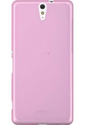Case Street Sony Xperia C5 Ultra Kılıf 02 mm Silikon + Nano + Kalem Pembe