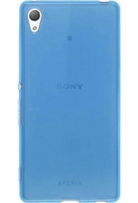 Case Street Sony Xperia Z5 Premium Kılıf 02 mm Silikon + Nano + Kalem Mavi
