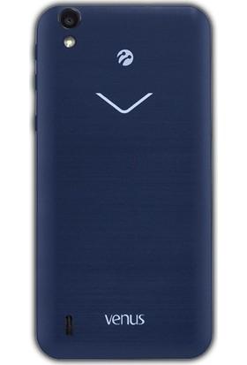 Case Street Vestel Venus V3 5000 Kılıf 02 mm Silikon Kılıf + Nano + Kalem Mavi