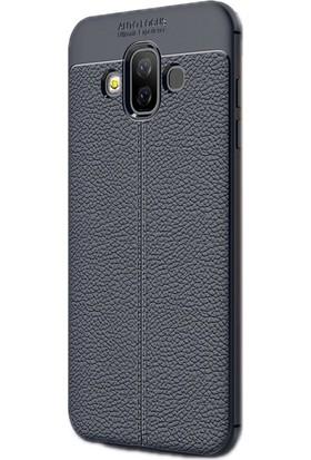 Case Street Samsung Galaxy J7 Duo Kılıf Niss Silikon + Nano + Kalem Lacivert