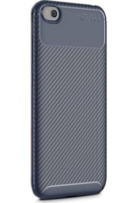 Case Street Xiaomi Redmi Go Kılıf Negro Karbon Dizayn Silikon + Nano + Kalem Lacivert