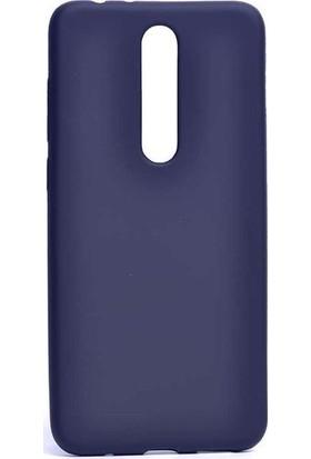 Case Street Nokia 3.1 Plus Kılıf Premier Silikon Esnek Koruma + Nano + Kalem Lacivert