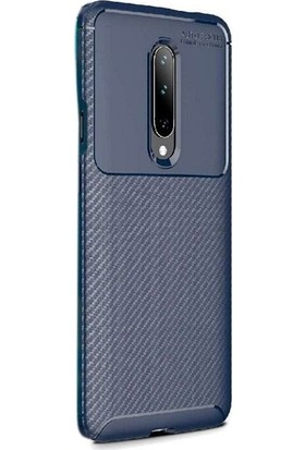 Case Street OnePlus 7 Pro Kılıf Negro Karbon Dizayn Silikon Lacivert