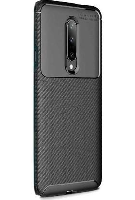 Case Street OnePlus 7 Pro Kılıf Negro Karbon Dizayn Silikon Siyah