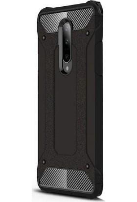 Case Street OnePlus 7 Pro Kılıf Crash Tank Çift Katman Koruyucu Siyah