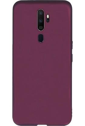 Case Street Oppo A9 2020 Kılıf Premier Silikon Esnek Arka Koruma Mürdüm