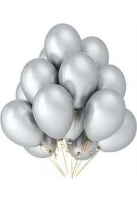 Bombastic Metalik Gümüş Balon 10'lu