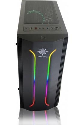 Inca EMG-21XB 650W 80 Plus 4 x 120 mm RGB Fan USB 3.0 MidTower ATXOyuncu Bilgisayar Kasası