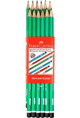 Faber-Castell Faber Castell 12'li 2160 Hb Mercanlı Köşeli Ahşap Kurşun Kalem