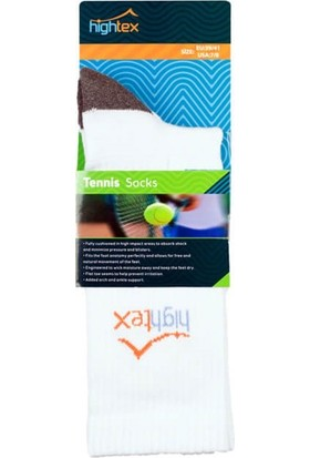 Hightex Tenis Çorabı Tennis Socks Beyaz Gri