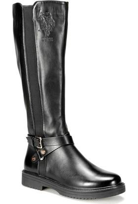 U.S Polo Assn. Eldo 9Pr Siyah Kadın Çizme 36