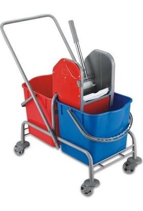 Free Comfort Çift Kovalı Temizlik Arabası Metal Presli