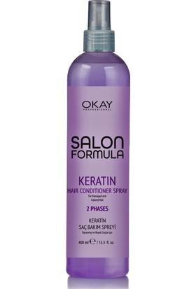 Okay Salon Formula Keratin Saç Bakım Spreyi - Kolay Tarama 400 ml