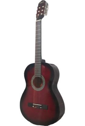 """Diko Gitar A970 39"""" Klasik Gitar (Redburst)"""