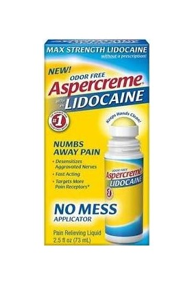 Aspercreme With 4% Lidocaine Pain Relieving Liquid (73ml)