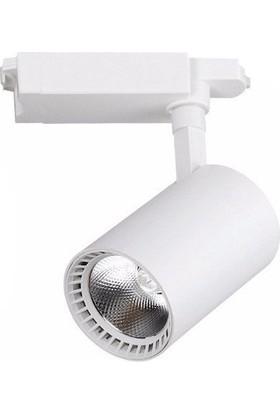 Elıght Ledli Ray Spot Beyaz Kasa 30 Watt Günışığı 3000K