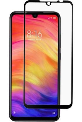 Case 4U Honor 8S - Huawei Y5 2019 Cam Ekran Koruyucu Tam Kaplayan 5D Temperli Siyah
