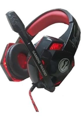 Stalker Warrior V-10R 7.1 Mikrofonlu Oyuncu Kulaklık Siyah - Kırmızı