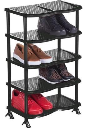 EliteHome Süper 5 Katlı Plastik Ayakkabılık