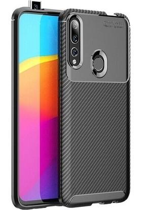 Tekno Grup Huawei Y9 Prime 2019 Kılıf Karbon Desenli Lux Negro Silikon Siyah