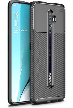 Tekno Grup Oppo Reno 2Z Kılıf Karbon Desenli Lux Negro Silikon Siyah