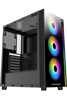 Xigmatek EN42883 Poseidon 4x12cm Fan Rainbow LED ATX Oyuncu Kasası