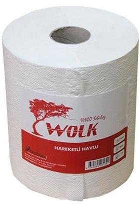Wolk Hareketli Rulo Kağıt Havlu / 21 Cm. / 4 Kg. / Koli : 6'lı Rulo