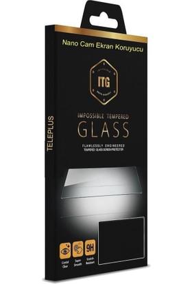Tbkcase Alcatel 3X 2019 Kılıf Lüks Lazer Yüzüklü Silikon Kırmızı + Nano Ekran Koruyucu