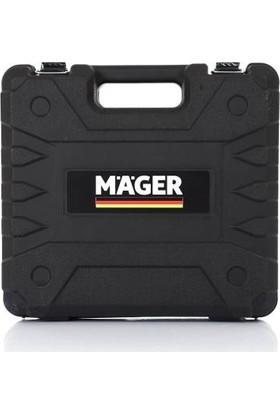 Mager 20 V 5 Ah Lion Çift Akülü Çantalı Şarjlı Işıklı Şarj Göstergeli Matkap + Uç 2'li