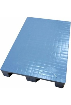 Hira Düz Desen Açık Gri Plastik Taşıma Paleti 80 x 120 x 15 cm