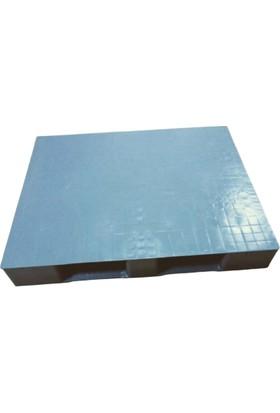Hira Düz Desen Gri Plastik Taşıma Paleti 100 x 120 x 15 cm