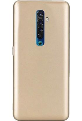 Gpack Oppo Reno 2Z Kılıf Premier Silikon Esnek Koruma Gold